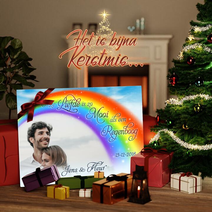 Canvas Cadeau Liefde Onder De Regenboog