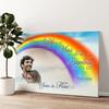 Liefde Onder De Regenboog Gepersonaliseerde muurschildering