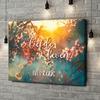 Gepersonaliseerde canvas print Bloeiende liefde