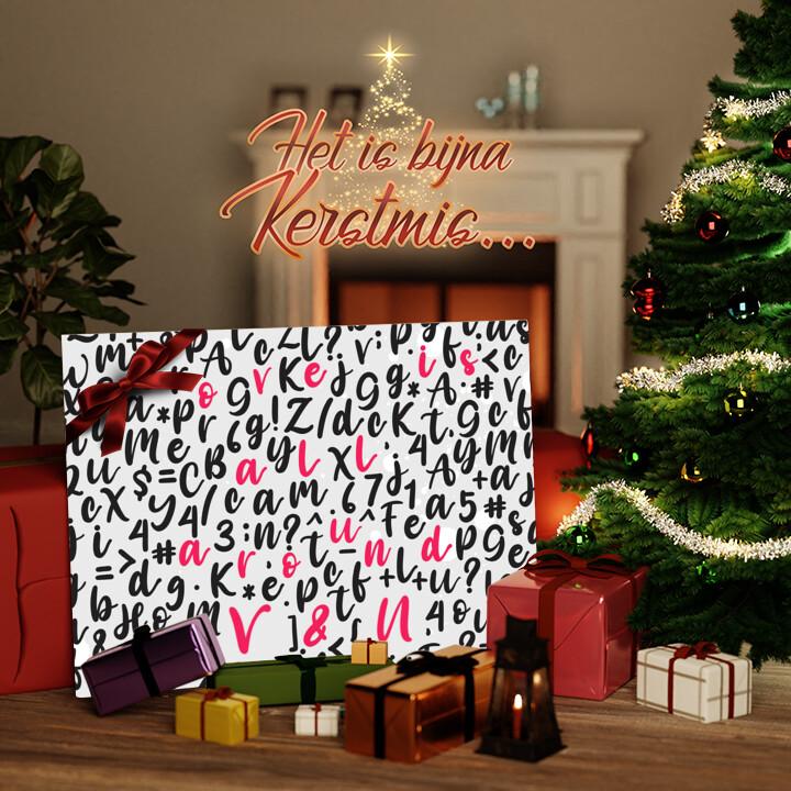 Canvas Cadeau Liefde is overal
