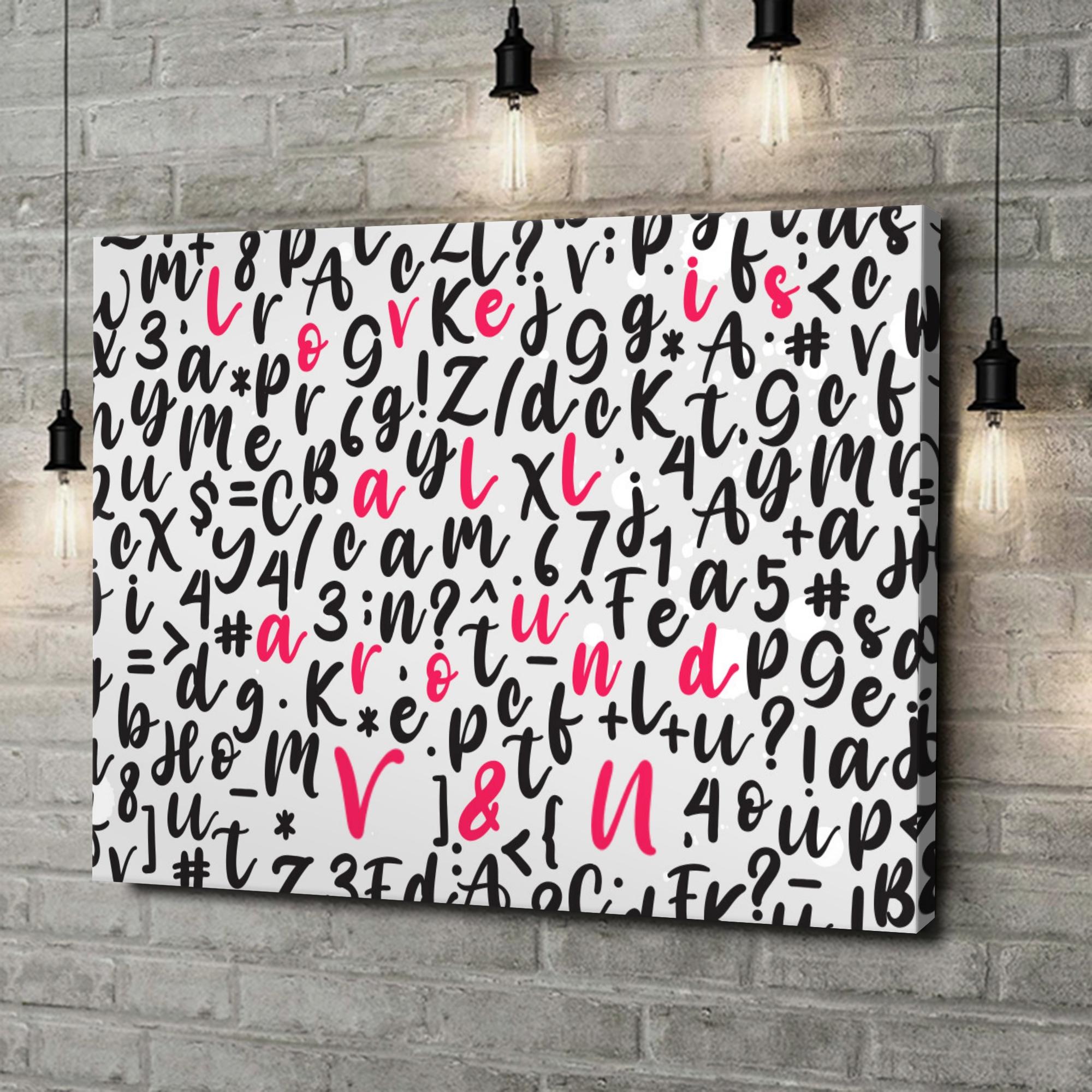 Gepersonaliseerde canvas print Liefde is overal