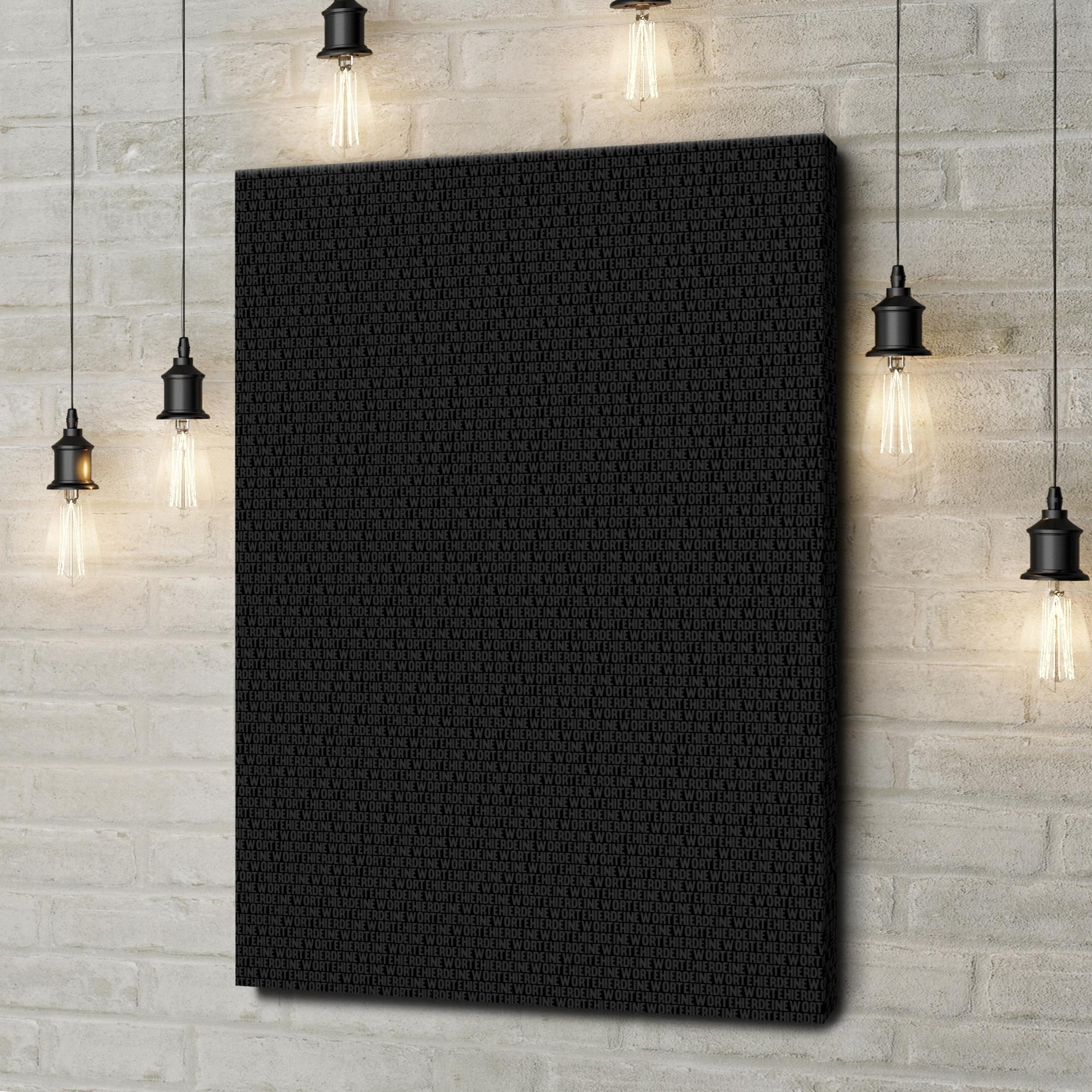 Gepersonaliseerde canvas print 1000 Woorden