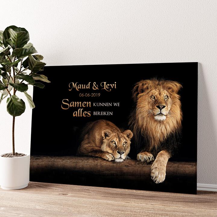 Leeuwenpaar Gepersonaliseerde muurschildering