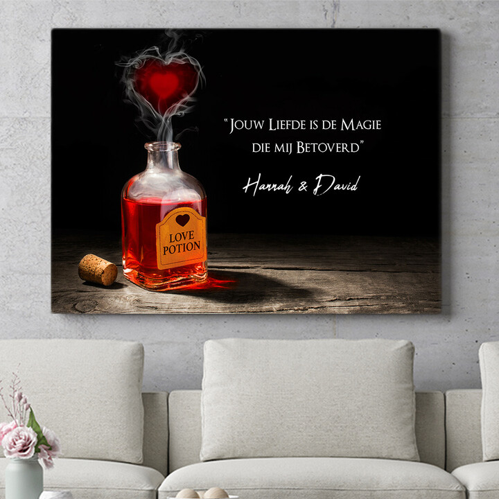 Personaliseerbaar cadeau Liefdesdrankje