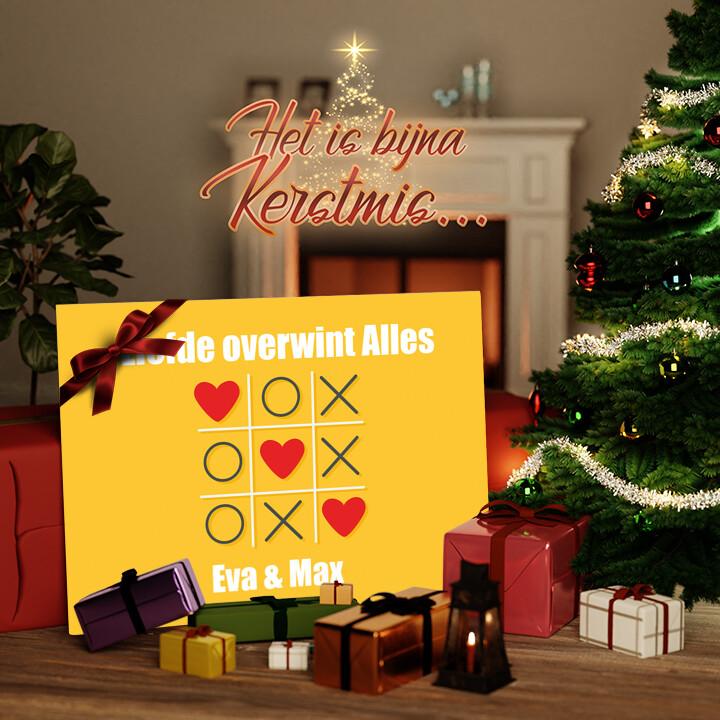 Canvas Cadeau Tic Tac Liefde