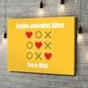 Gepersonaliseerde canvas print Tic Tac Liefde