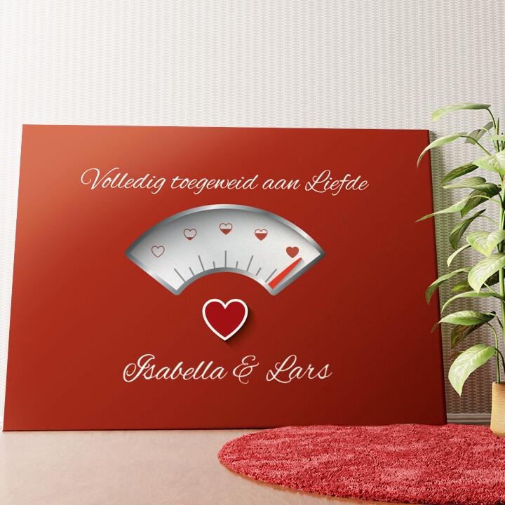 Gepersonaliseerde muurschildering 100% Liefde