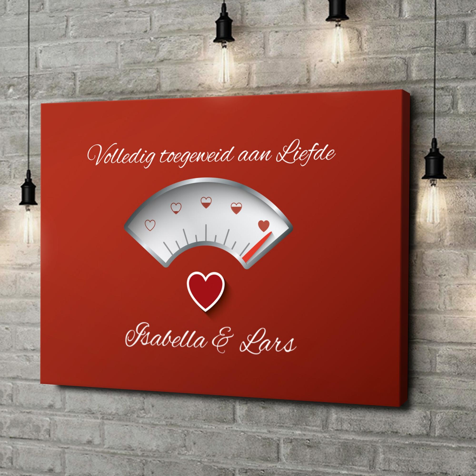 Gepersonaliseerde canvas print 100% Liefde