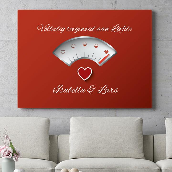 Personaliseerbaar cadeau 100% Liefde