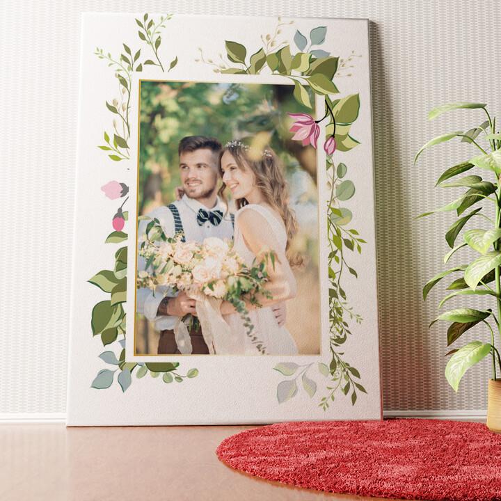 Gepersonaliseerde muurschildering Achtergrond: bloemrank