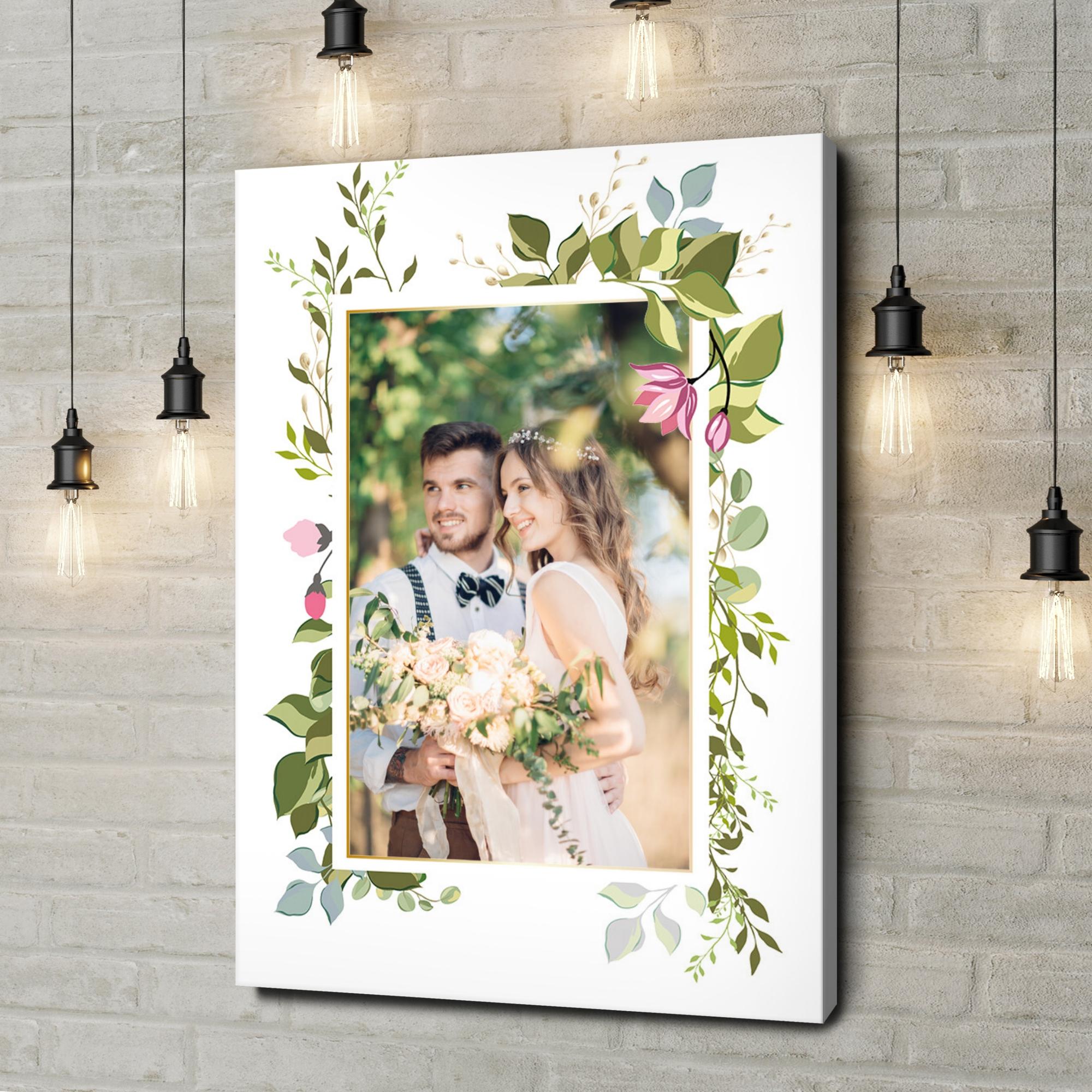 Gepersonaliseerde canvas print Achtergrond: bloemrank