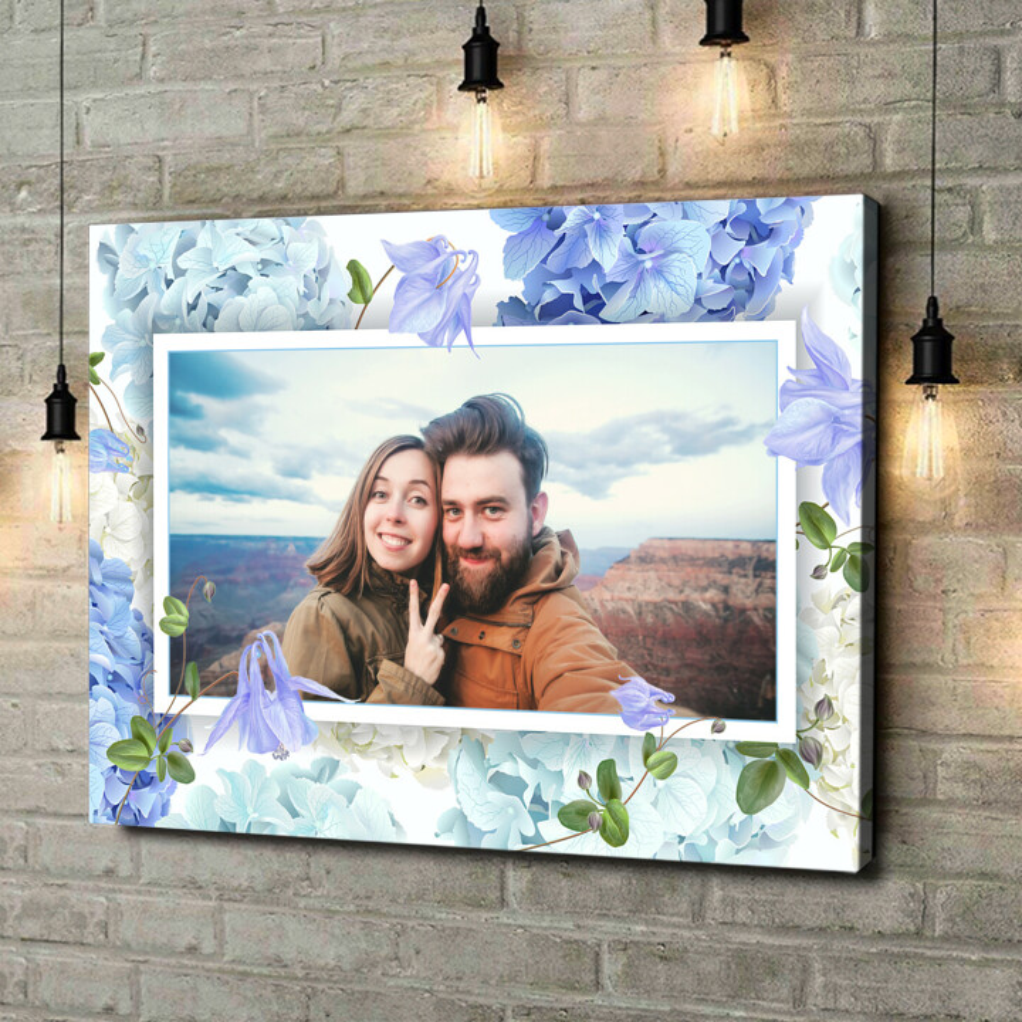 Gepersonaliseerde canvas print Achtergrond: bloemendroom