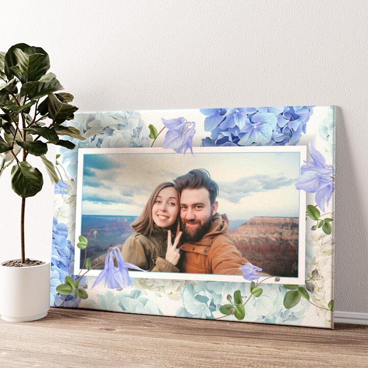 Achtergrond: bloemendroom Gepersonaliseerde muurschildering