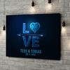 Gepersonaliseerde canvas print Liefde in Kwadraat
