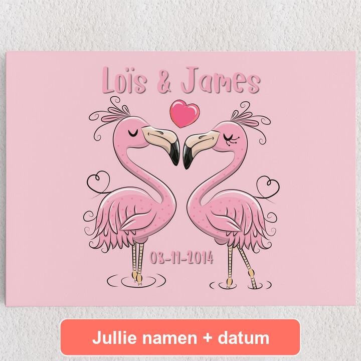 Gepersonaliseerde Canvas Flamingorama