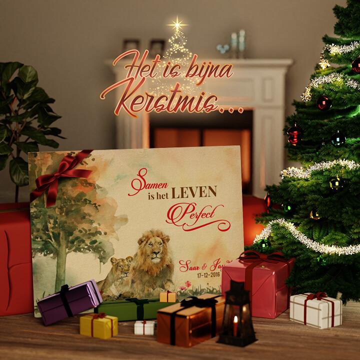 Canvas Cadeau Samen liefhebben