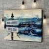 Gepersonaliseerde canvas print Dag aan het meer