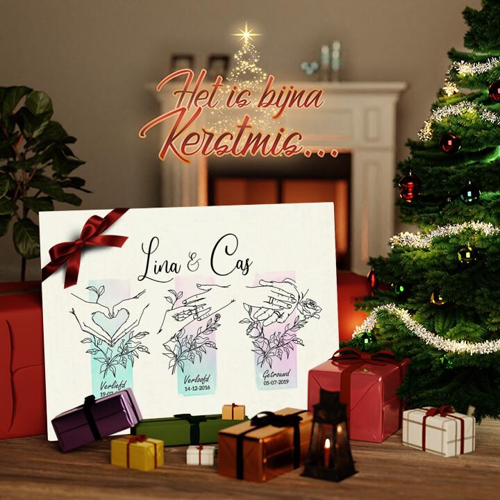 Canvas Cadeau Uit een komen er twee