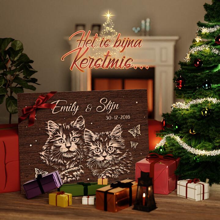 Canvas Cadeau Liefde op fluwelen Poten