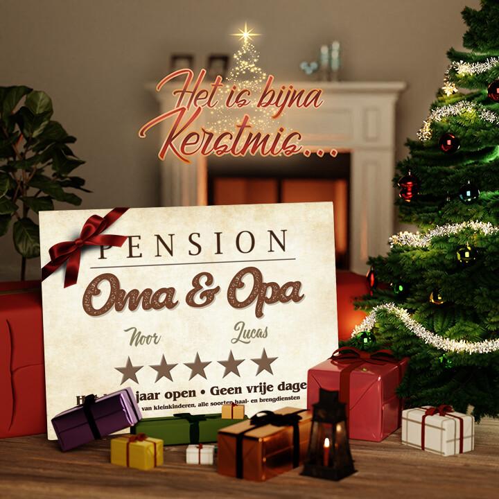 Canvas Cadeau Pension Oma & Opa