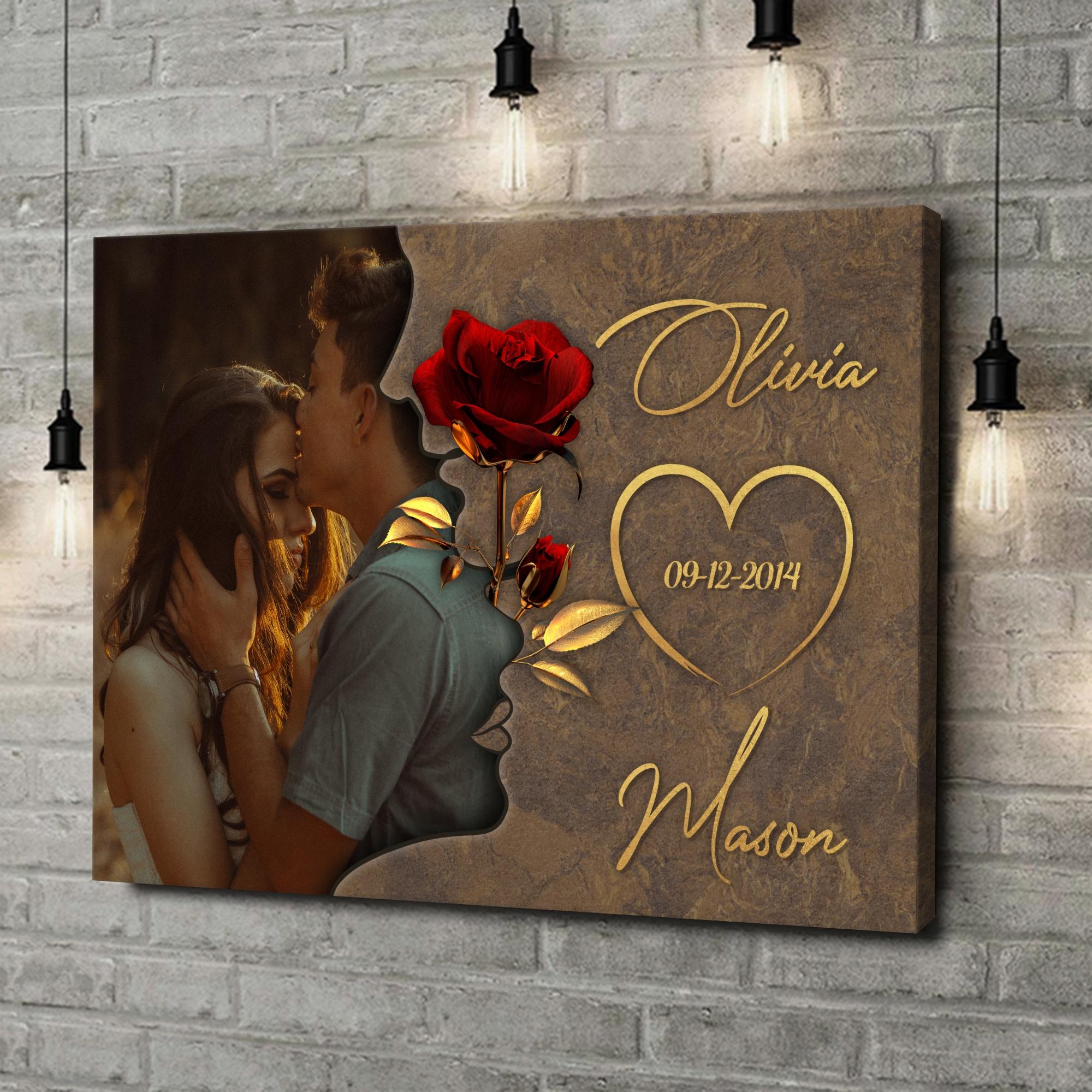 Gepersonaliseerde canvas print Gefluister van Liefde