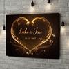 Gepersonaliseerde canvas print Gouden Harten
