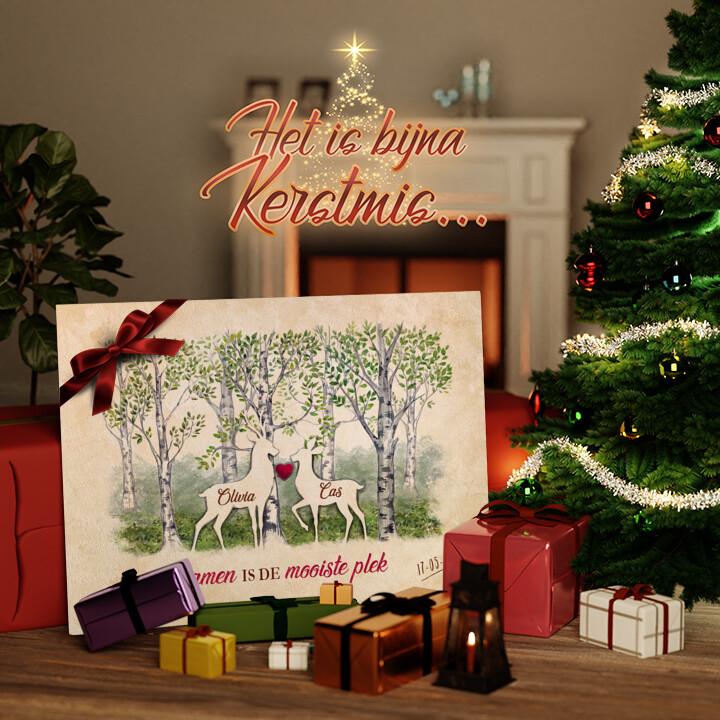 Canvas Cadeau Bos romantiek
