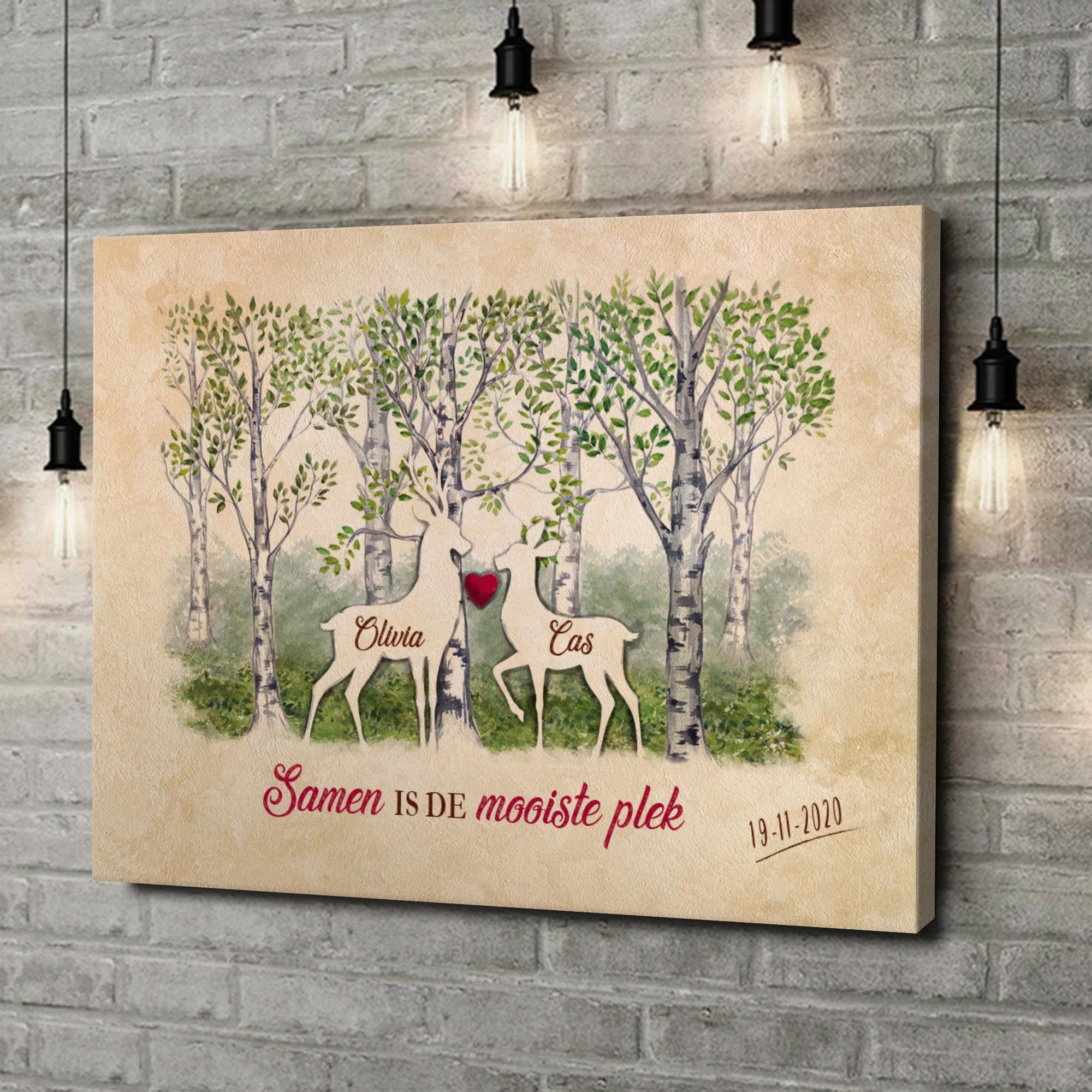 Gepersonaliseerde canvas print Bos romantiek