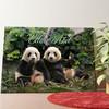 Gepersonaliseerde muurschildering Panda beren