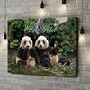 Gepersonaliseerde canvas print Panda beren