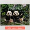 Gepersonaliseerde Canvas Panda beren