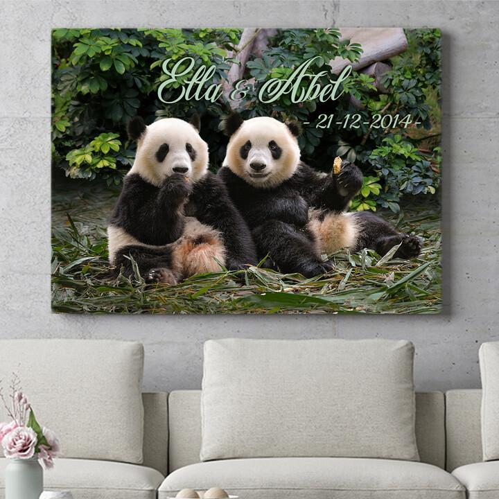 Personaliseerbaar cadeau Panda beren